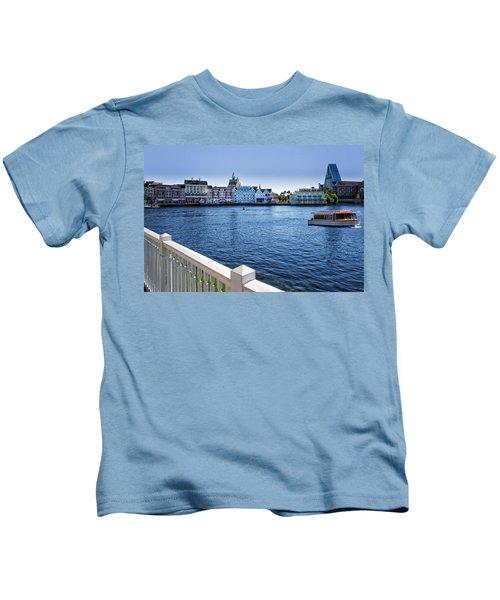 Gazebo View Of The Boardwalk Walt Disney World Kids T-Shirt