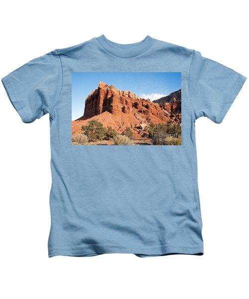 Golden Throne Capitol Reef National Park Kids T-Shirt