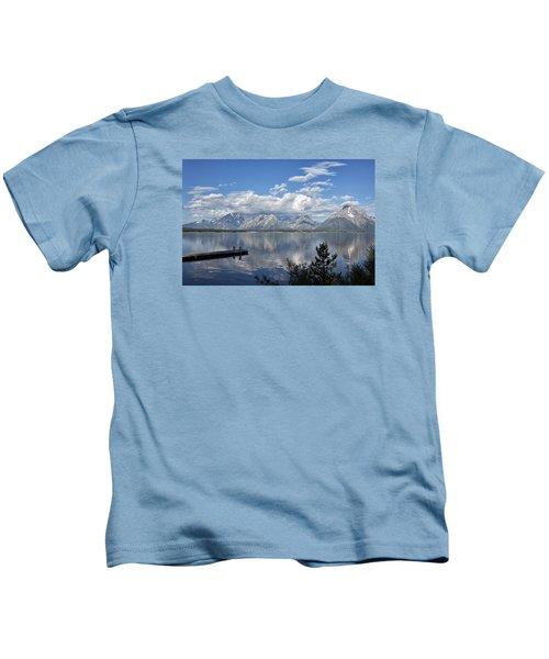 Grand Tetons In The Morning Light Kids T-Shirt