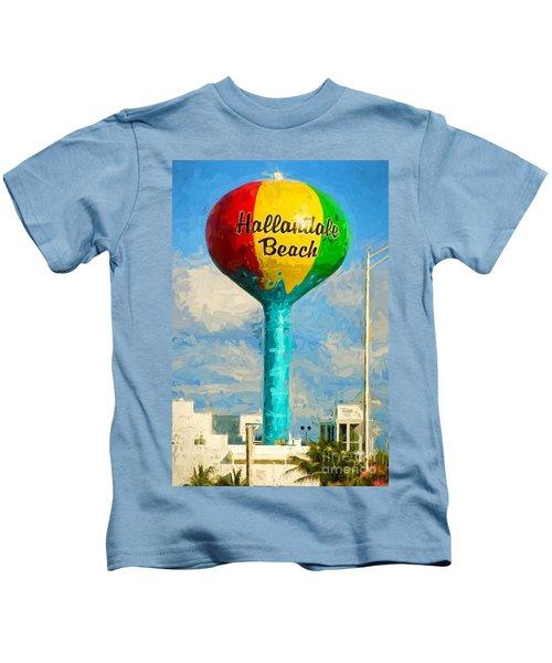 Hallandale Beach Water Tower Kids T-Shirt