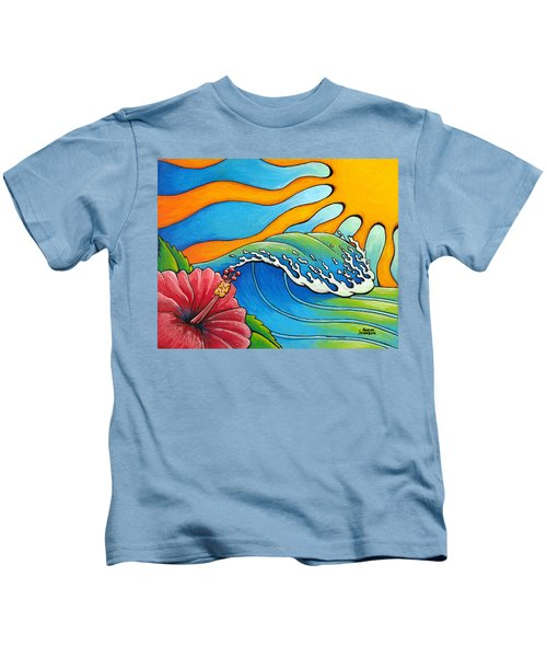 Hibiscus Wave Kids T-Shirt
