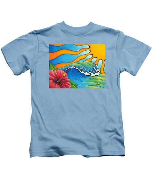 Hibiscus Wave Kids T-Shirt