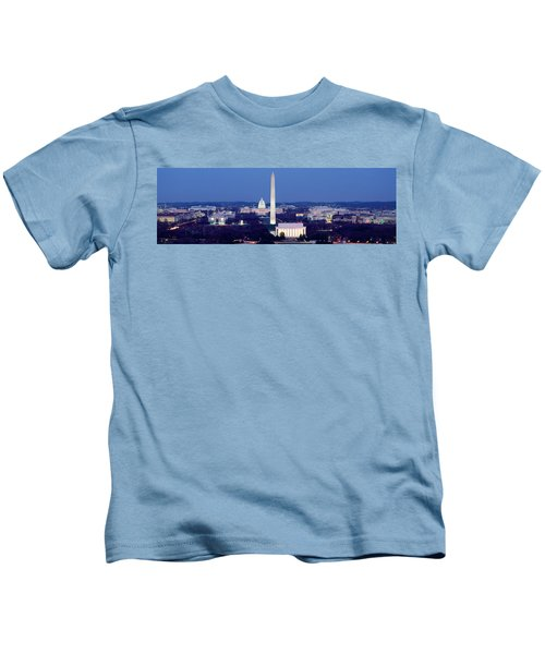 High Angle View Of A City, Washington Kids T-Shirt