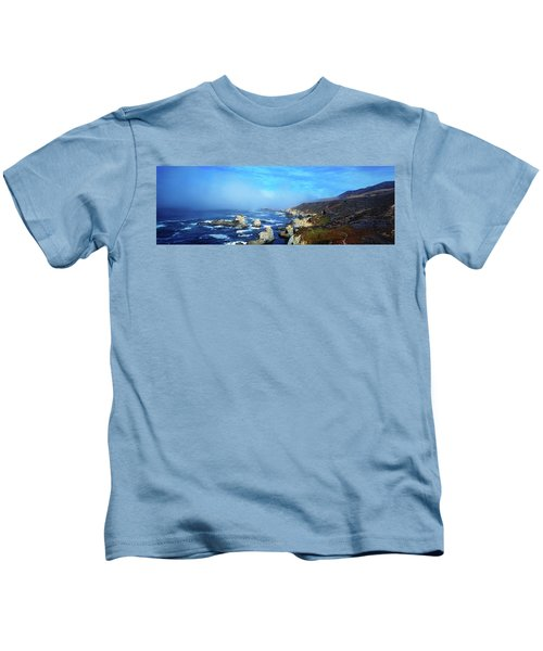 High Angle View Of Rock Formations Kids T-Shirt