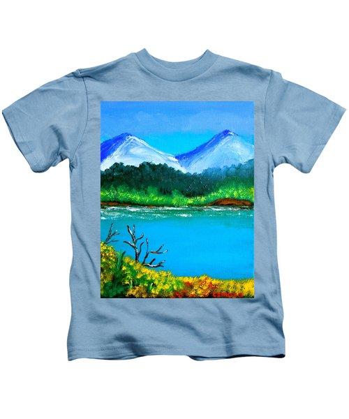 Hills By The Lake Kids T-Shirt