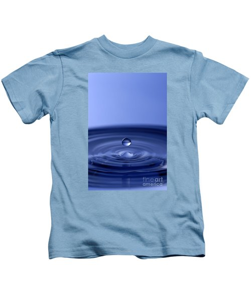 Hovering Blue Water Drop Kids T-Shirt