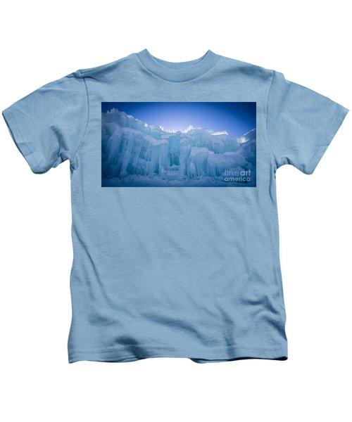 Ice Castle Kids T-Shirt by Edward Fielding