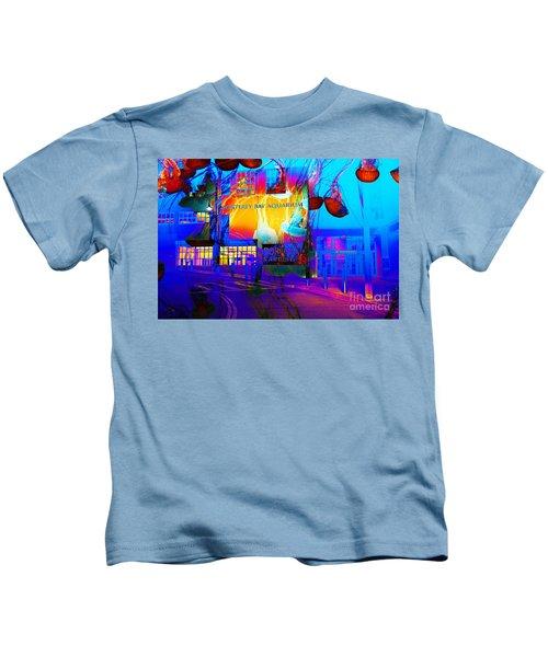 Its Raining Jelly Fish At The Monterey Bay Aquarium 5d25177 Kids T-Shirt