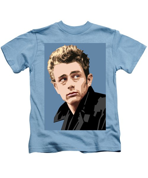 James Dean In Color Kids T-Shirt