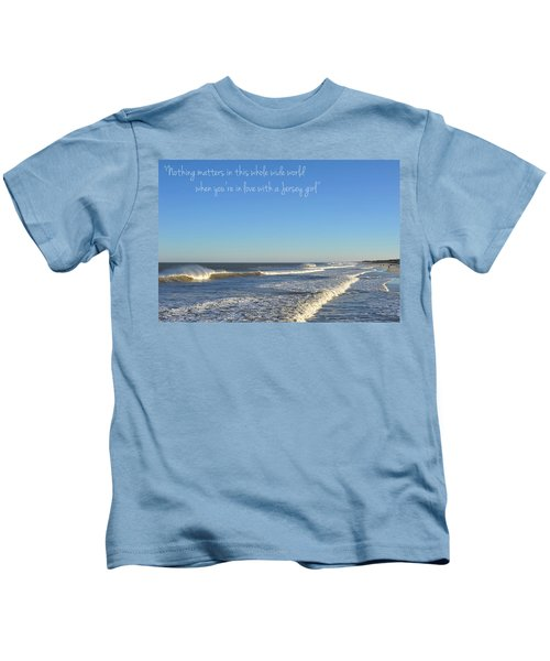 Jersey Girl Seaside Heights Quote Kids T-Shirt