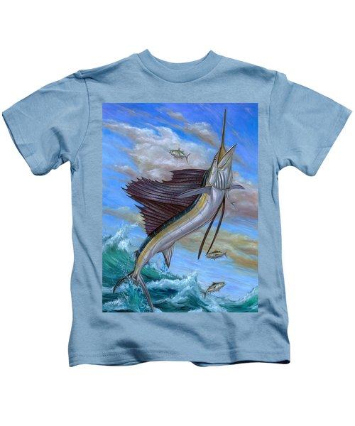 Jumping Sailfish Kids T-Shirt