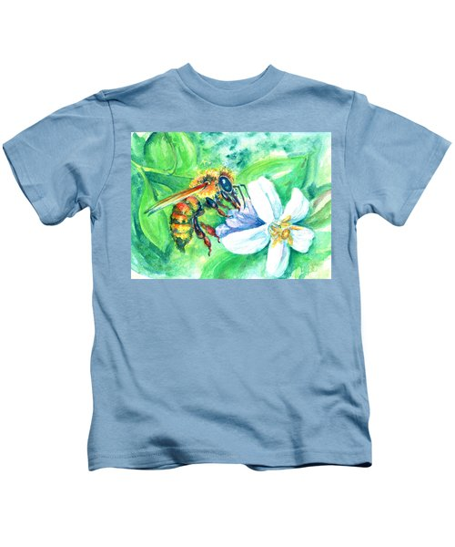 Key Lime Honeybee Kids T-Shirt