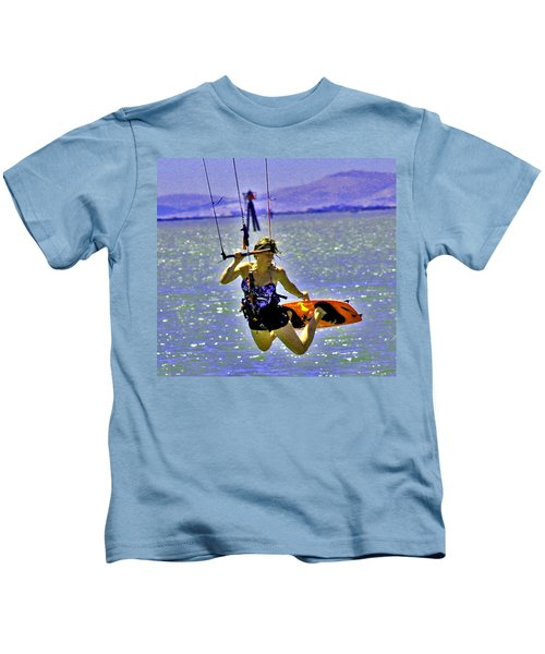 A Kite Board Hoot Kids T-Shirt