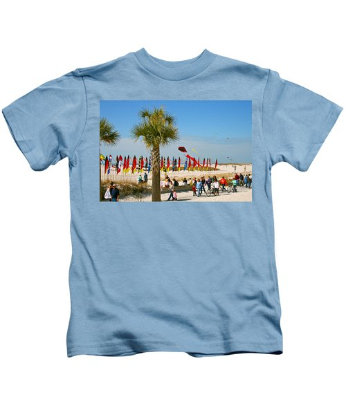 Kite Day At St. Pete Beach Kids T-Shirt