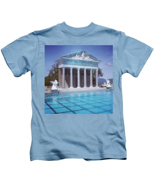 La Dolce Vita At Hearst Castle - San Simeon Ca Kids T-Shirt
