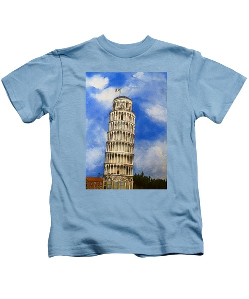 Leaning Tower Of Pisa Kids T-Shirt