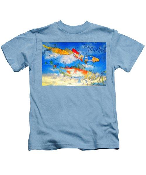Life Is But A Dream - Koi Fish Art Kids T-Shirt