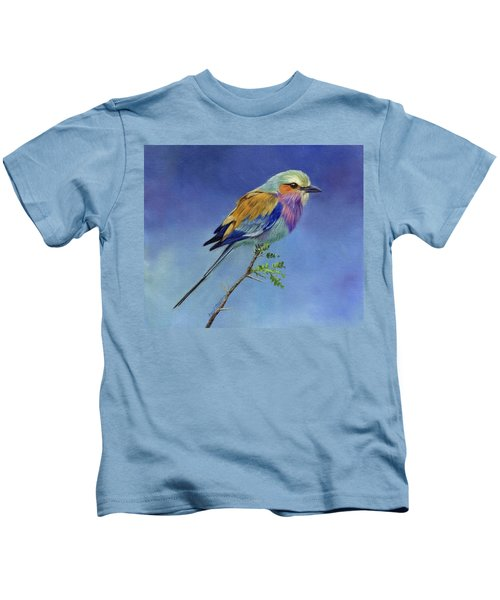Lilacbreasted Roller Kids T-Shirt