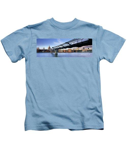 Millennium Bridge London 1 Kids T-Shirt by Rod McLean