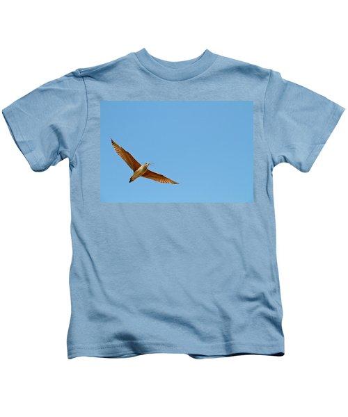 Long-billed Curlew In Flight Kids T-Shirt