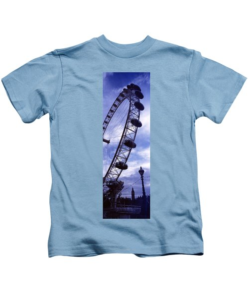 Low Angle View Of The London Eye, Big Kids T-Shirt by Panoramic Images
