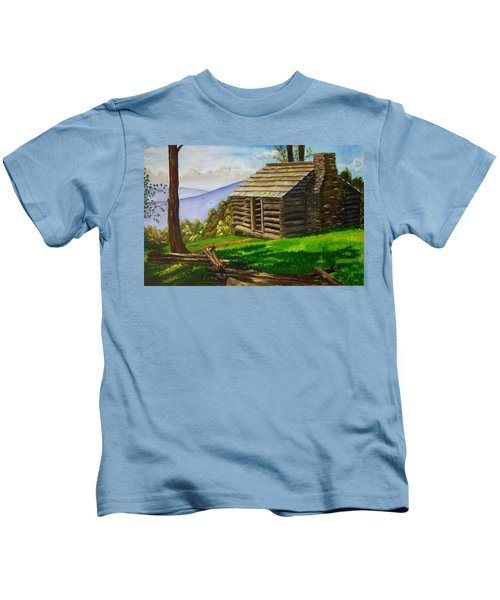 Lunch At An Old Cabin In The Blue Ridge Kids T-Shirt