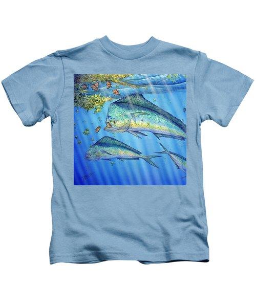 Mahi Mahi In Sargassum Kids T-Shirt