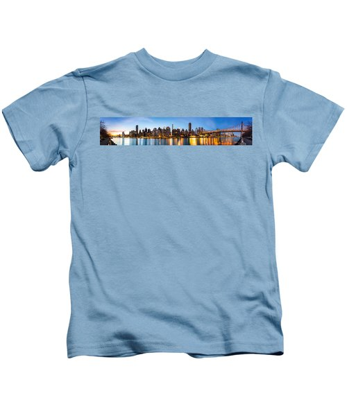 Manhattan Panorama And Queensboro Bridge Kids T-Shirt