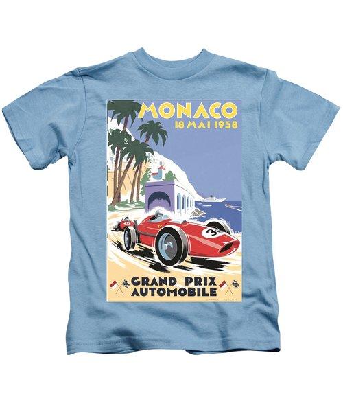 Monaco Grand Prix 1958 Kids T-Shirt