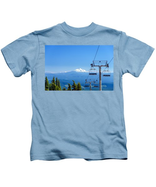 Mount Jefferson And Chairlifts Kids T-Shirt