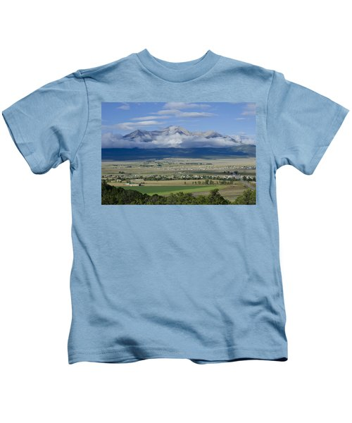 Mount Princeton And Ring Of Clouds Kids T-Shirt