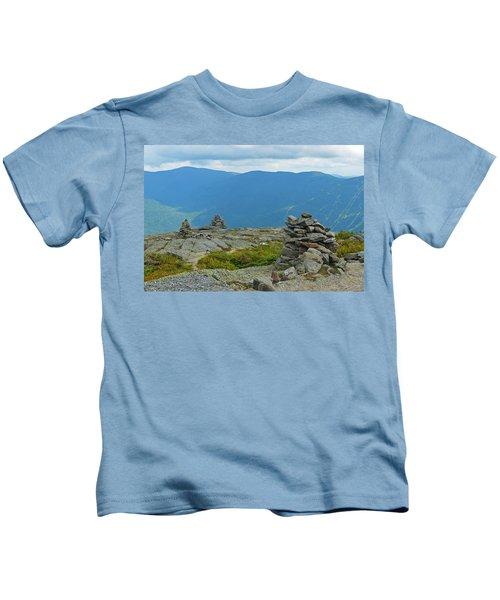 Mount Washington Rock Cairns Kids T-Shirt