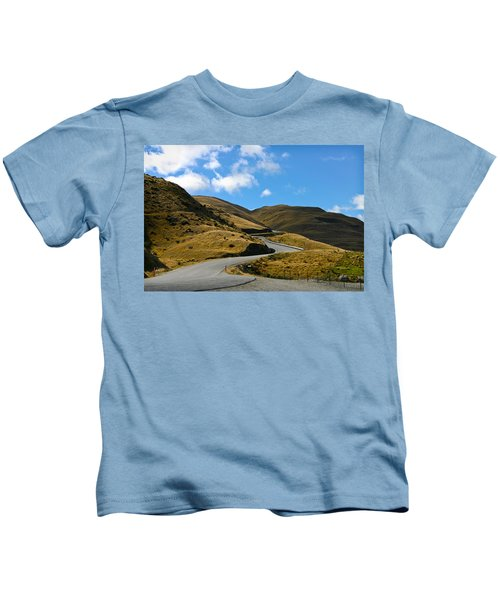 Mountain Pass Road Kids T-Shirt