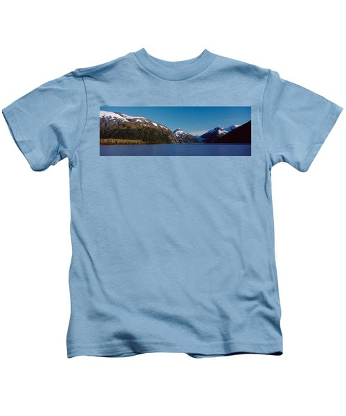 Mountains At The Seaside, Chugach Kids T-Shirt