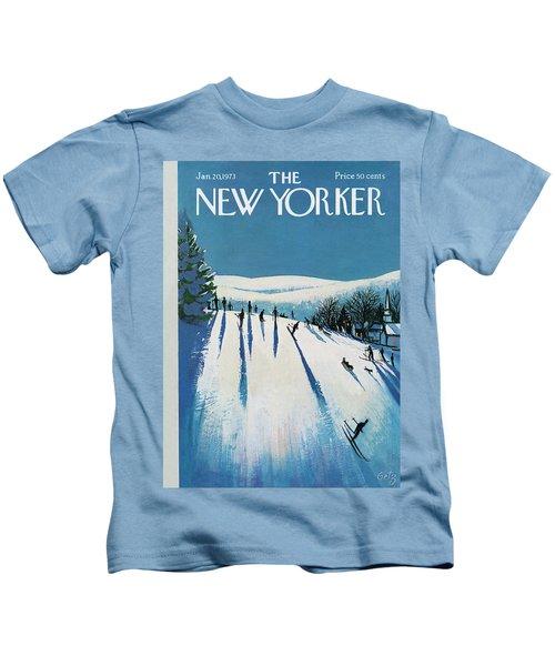 New Yorker January 20th, 1973 Kids T-Shirt