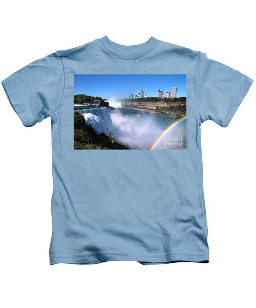 Niagara Falls Double Rainbow Kids T-Shirt