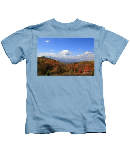 North Carolina Mountains In The Fall Kids T-Shirt