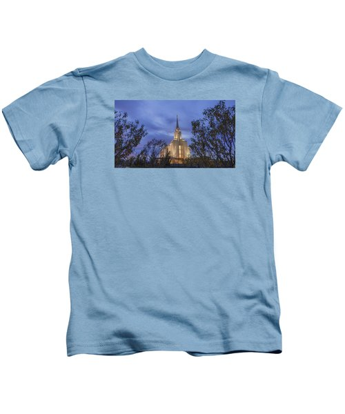 Oquirrh Mountain Temple II Kids T-Shirt