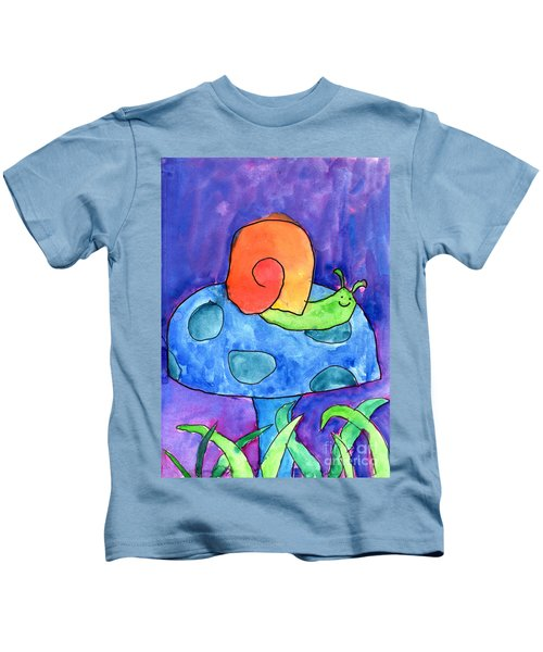 Orange Snail Kids T-Shirt
