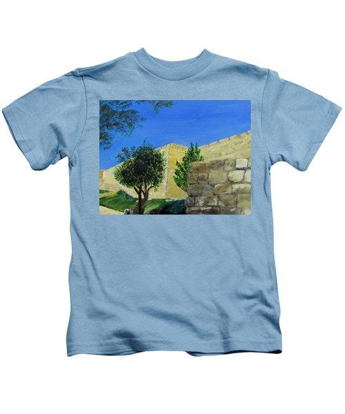 Outside The Wall - Jerusalem Kids T-Shirt