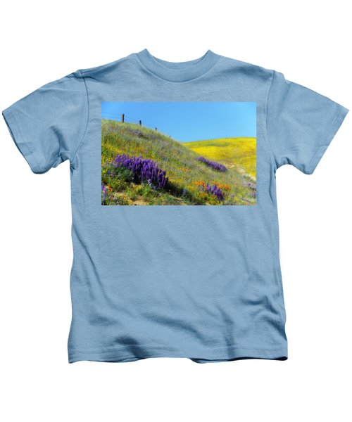 Painted With Wildflowers Kids T-Shirt