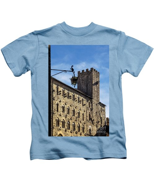 Palazzo Pretorio And The Tower Of Little Pig Kids T-Shirt