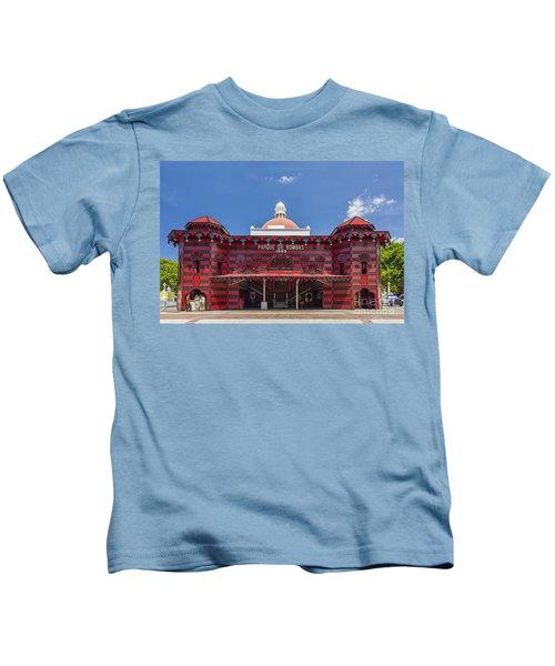 Parque De Bombas Fire Station In Ponce Puerto Rico Kids T-Shirt