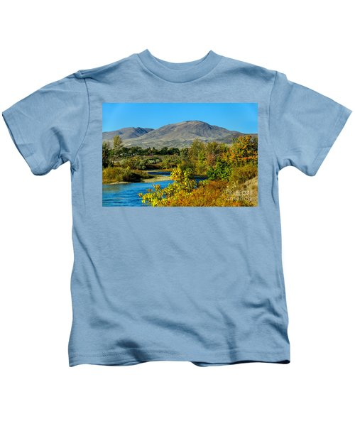 Payette River And Squaw Butte Kids T-Shirt