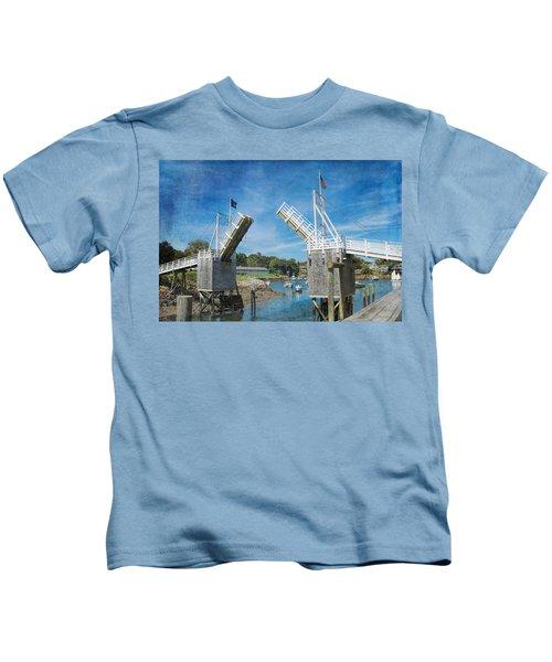 Perkins Cove Drawbridge Textured Kids T-Shirt