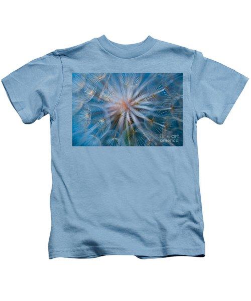 Puff-ball In Blue Kids T-Shirt