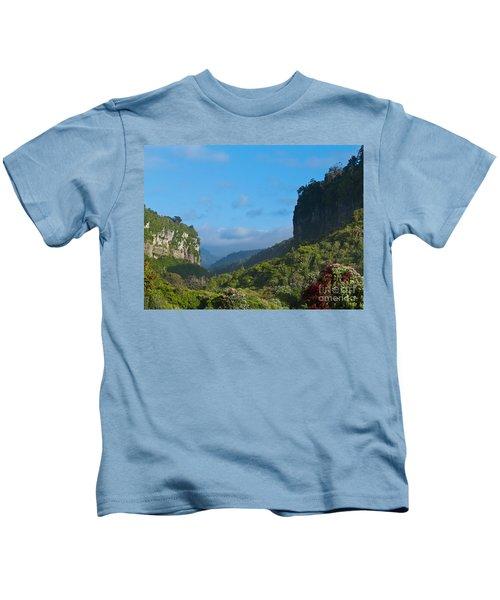 Punakaiki River Valley In Paparoa Np In New Zealand Kids T-Shirt