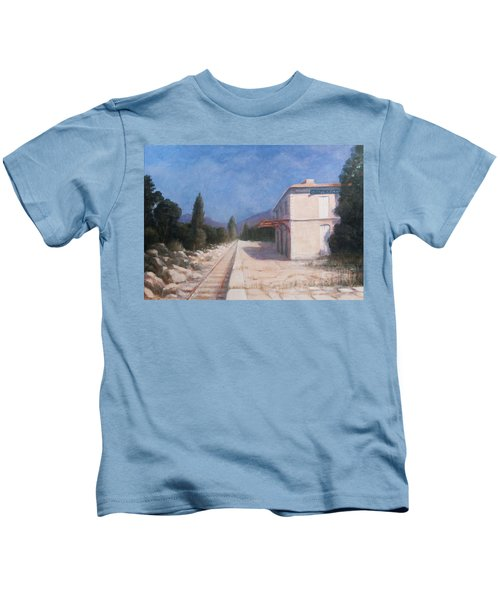Rail Station, Châteauneuf, 2012 Acrylic On Canvas Kids T-Shirt
