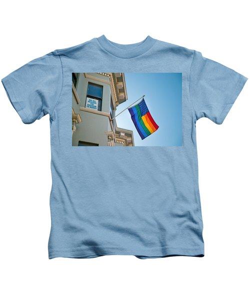 Rainbow Flag Marriage Equality Kids T-Shirt