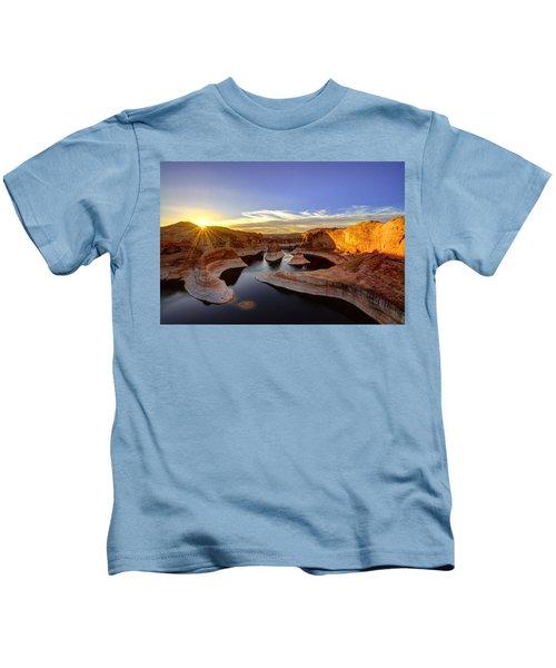 Reflection Canyon Sunrise Kids T-Shirt